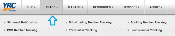 YRC Freight Tracking Tool online