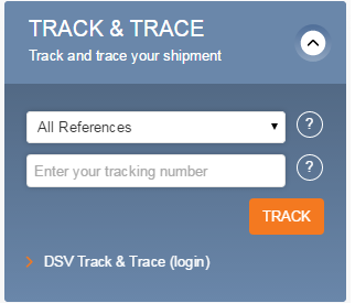 DSV Ocean Transport online tracking solution