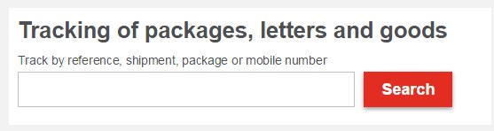 Posten Norge tracking with number