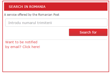 Enter your number to track posta romana courier